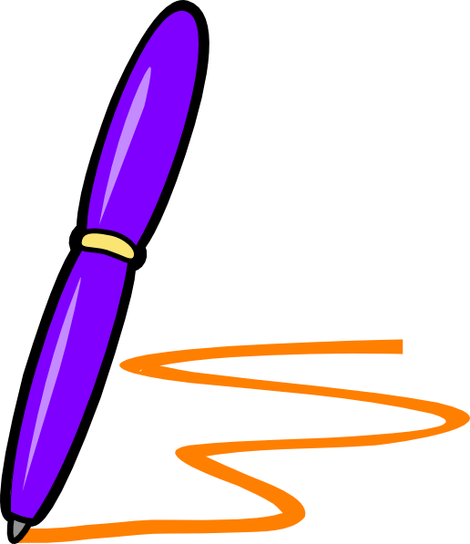 lilac pen orange writing clip art at clker com vector clip art rh clker com clip art of writing clipart writing black and white