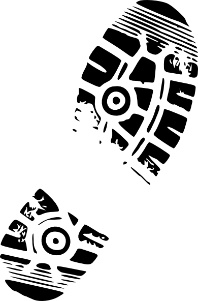 running shoe print 2 clip art at clkercom vector clip