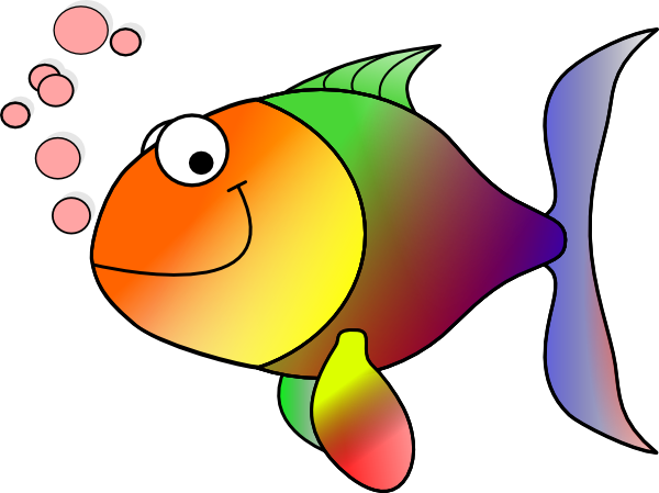 rainbow fish clip art at clker com vector clip art Rainbow Fish Clip Art Black and White free rainbow fish clipart