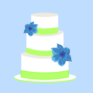 Cake Blue And Green Clip Art