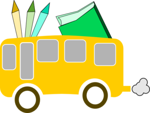 Back To Scool Yellow - Bus  Cole Jaune Clip Art