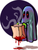 Scary Ghost Trick Or Treating Clip Art