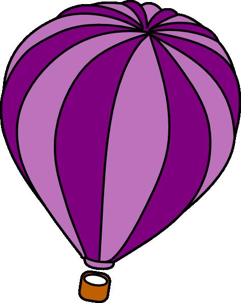 Hot Air Balloon Purple Clip Art at Clker.com - vector clip ...