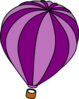 Hot Air Balloon Purple Clip Art