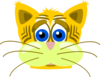Sad Yellow Cat Clip Art