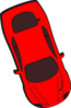 Red Car - Top View - 290 Clip Art