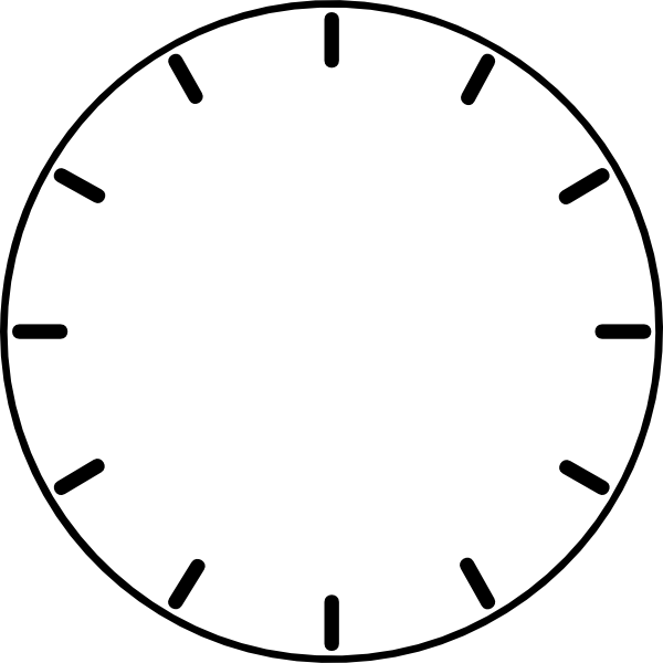 Clock Face (no Hands) Clip Art at Clker.com - vector clip art online ...
