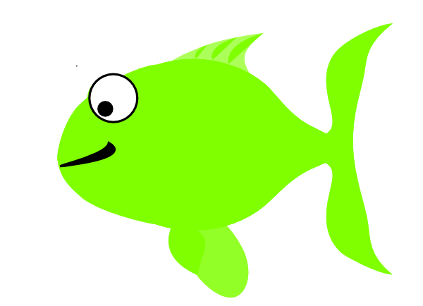 green happy fish clip art at clker com