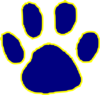 Tiger Paw Dark Blue Clip Art