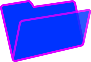 Purple And Blue Folder Clip Art