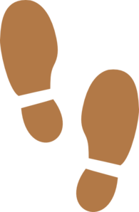 Shoe Print Tan Large Clip Art