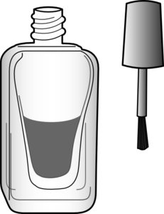 Black And White Nail Polish Bottle Clip Art