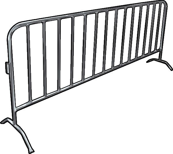 Metal arena guardrail clip art at clker vector