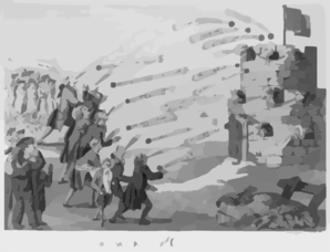 The Late Bombardment Of Government Castle  / C. Goodnight Sculp. Clip Art
