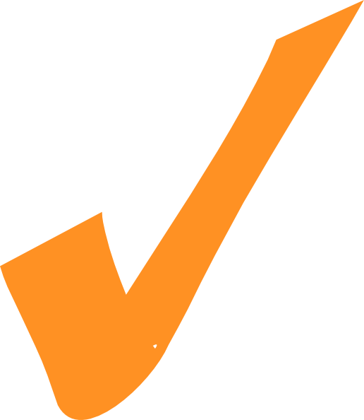 Orange Checkmark Clip Art at Clker.com - vector clip art online ...