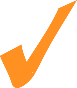 Orange Checkmark Clip Art