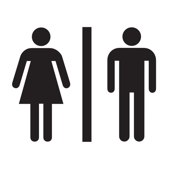 Male Female Bathroom Symbols Delectable Male Female Bathroom Wo Boarder Clip Art At Clker  Vector . Inspiration Design