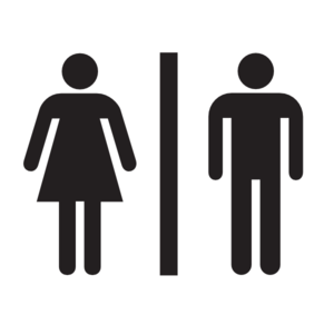 Male Female Bathroom W/o Boarder Clip Art