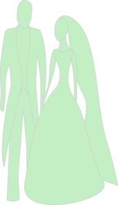 Apple Green Bride And Groom Clip Art