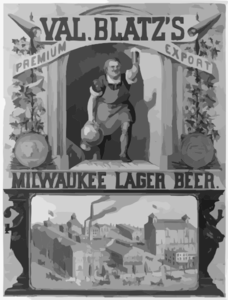 Val. Blatz S Premium Export, Milwaukee Lager Beer  / M. Ulffers. Clip Art