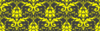 Damask Yellow On Gray Clip Art