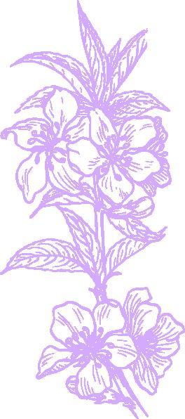Purple Hawaiian Flower Clip Art at Clker.com - vector clip art online ...