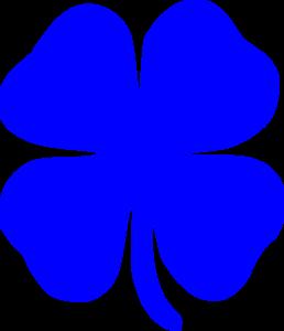 Blue Shamrock Clip Art at Clker.com - vector clip art online, royalty ...