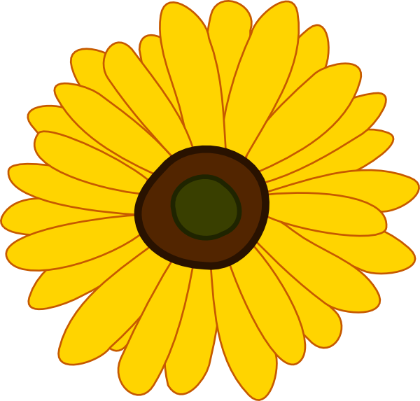 free black and white clip art sunflowers - photo #25