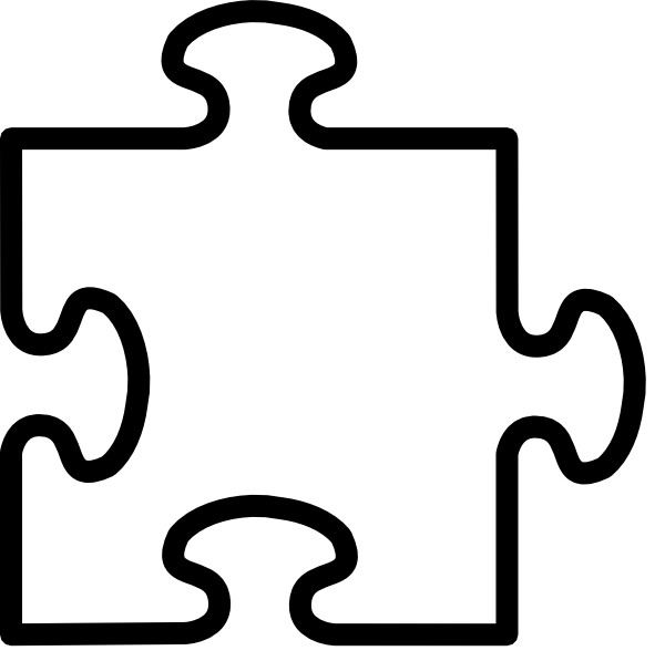 jigsaw white puzzel peice clip art at clker com