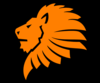 Lion Head Orange Clip Art