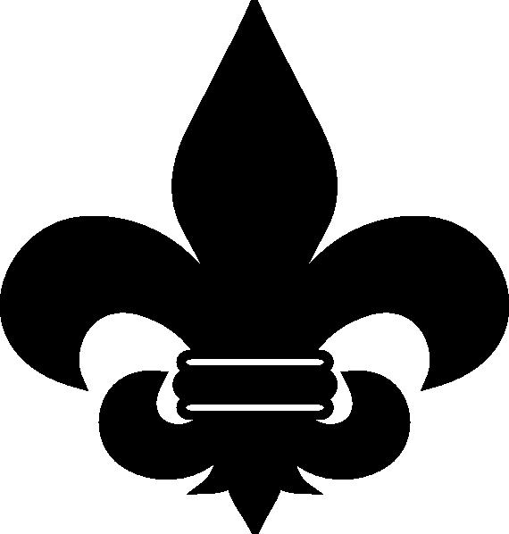 black fleur de lis clip art at clker com vector clip art online rh clker com fleur de lis clip art images fleur de lis clip art free