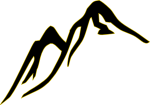 Black&gold Mountain Outline Clip Art