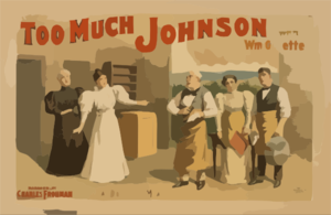 Too Much Johnson With Wm. Gillette. Clip Art