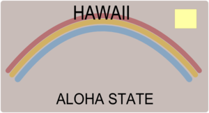 Large Blank Hawaii Plate Clip Art