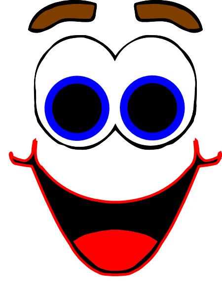 Colorful Cartoon Face Clip Art At Clker Com Vector Clip Art