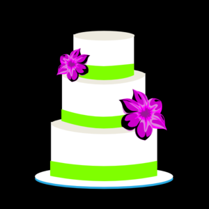 Cake Green And Purple Clip Art