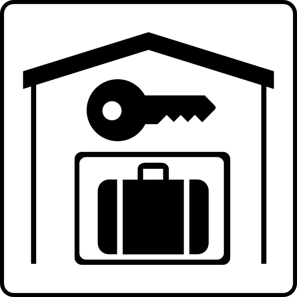 hotel icon has secure storage in room clip art at clker