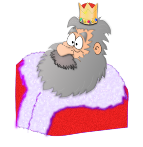 King In Red Robe Clip Art