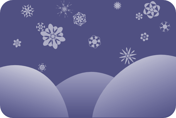 Snow Scene 1 Clip Art at Clker.com - vector clip art online, royalty ...