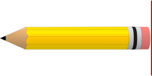 Yellow #2 Pencil Clip Art