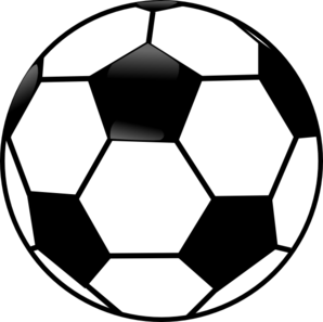 black and white soccer ball clip art at clker com vector clip art rh clker com black and white football clipart free black and white football jersey clipart