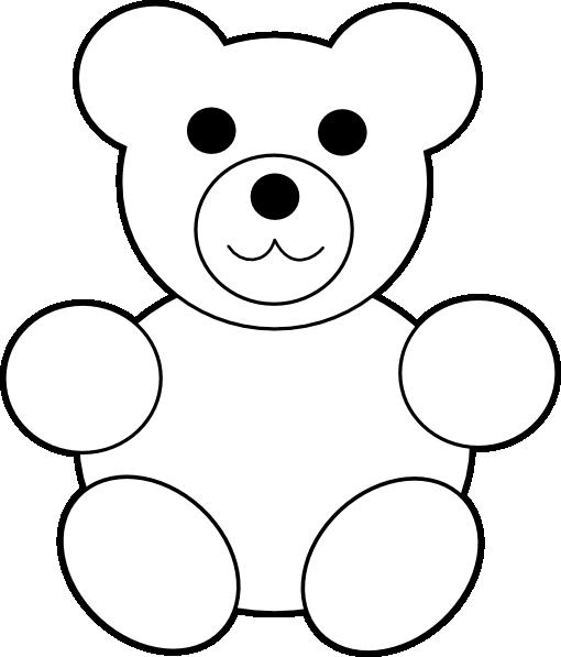 printable teddy bear clip art at clker com vector clip art online