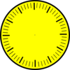 Clock Face (yellow), Hour And Minute Marks, No Hands Clip Art