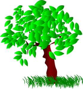 Tree Large Leaves Clip Art