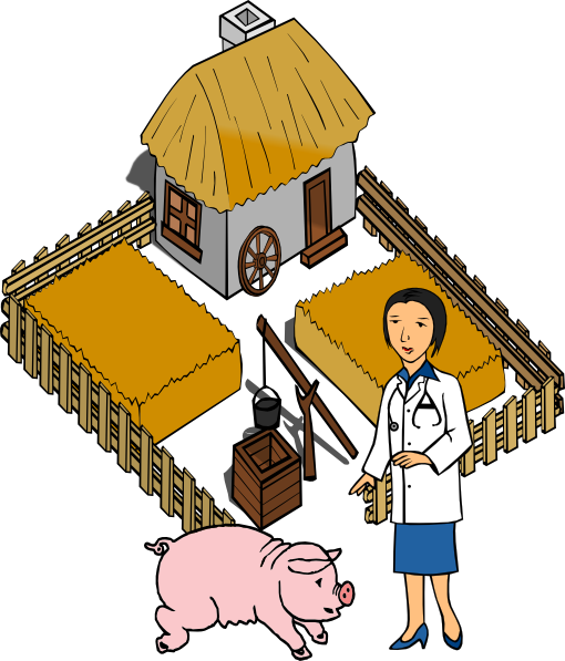 Doctor Pig On A Farm Clip Art At Clker