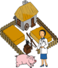 Doctor Pig On A Farm Clip Art