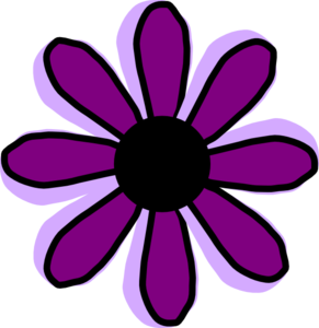 Purple Flower 9 Clip Art