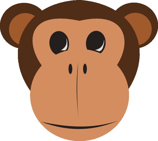 monkey face clip art at clker com vector clip art online royalty rh clker com Cute Monkey Face Clip Art baby monkey face clipart