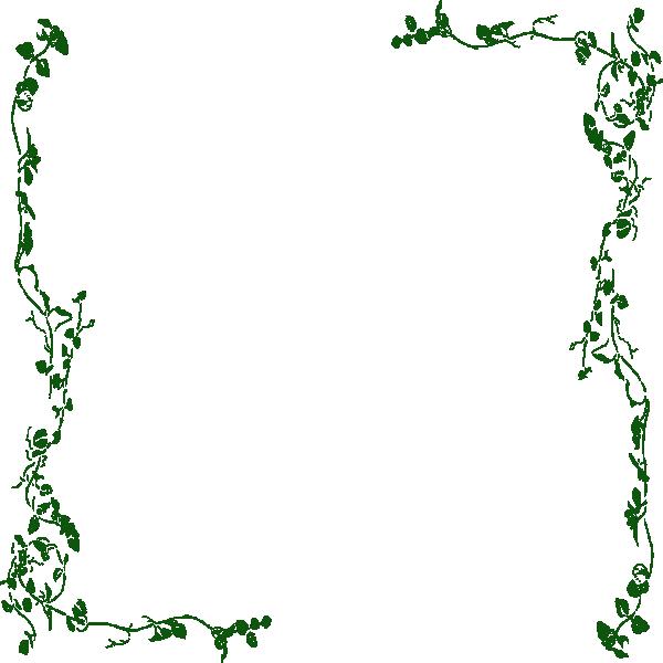 Vine Border Green Clip Art at Clker.com - vector clip art ...