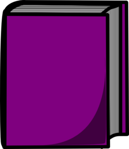 Purple Closed Book Clip Art
